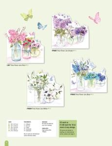Die Cut flower vase card selection