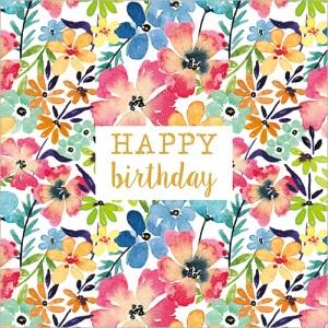 Bright Flowers (Happy Birthday) Card Design