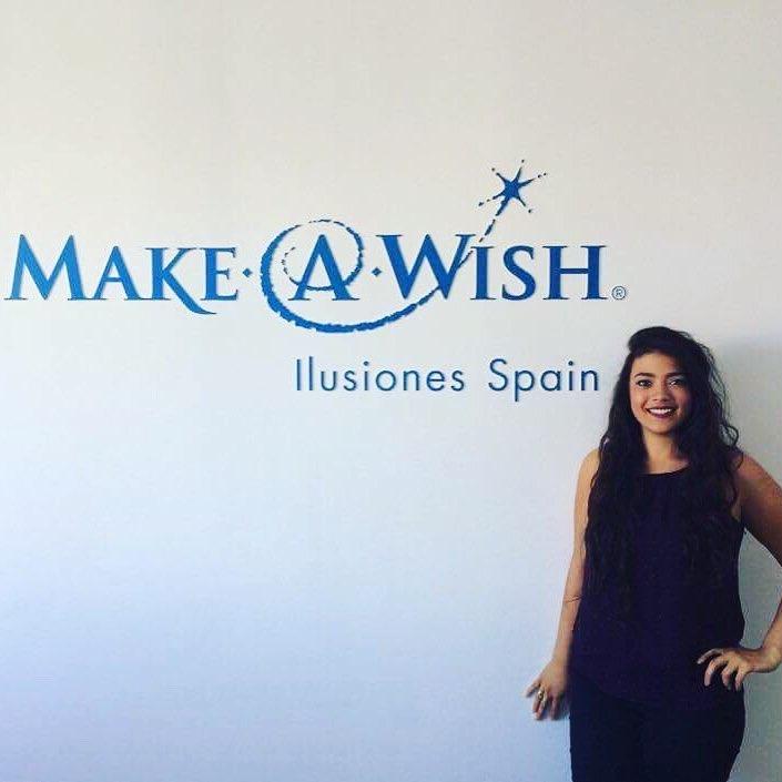 wall with make-a-wish logo