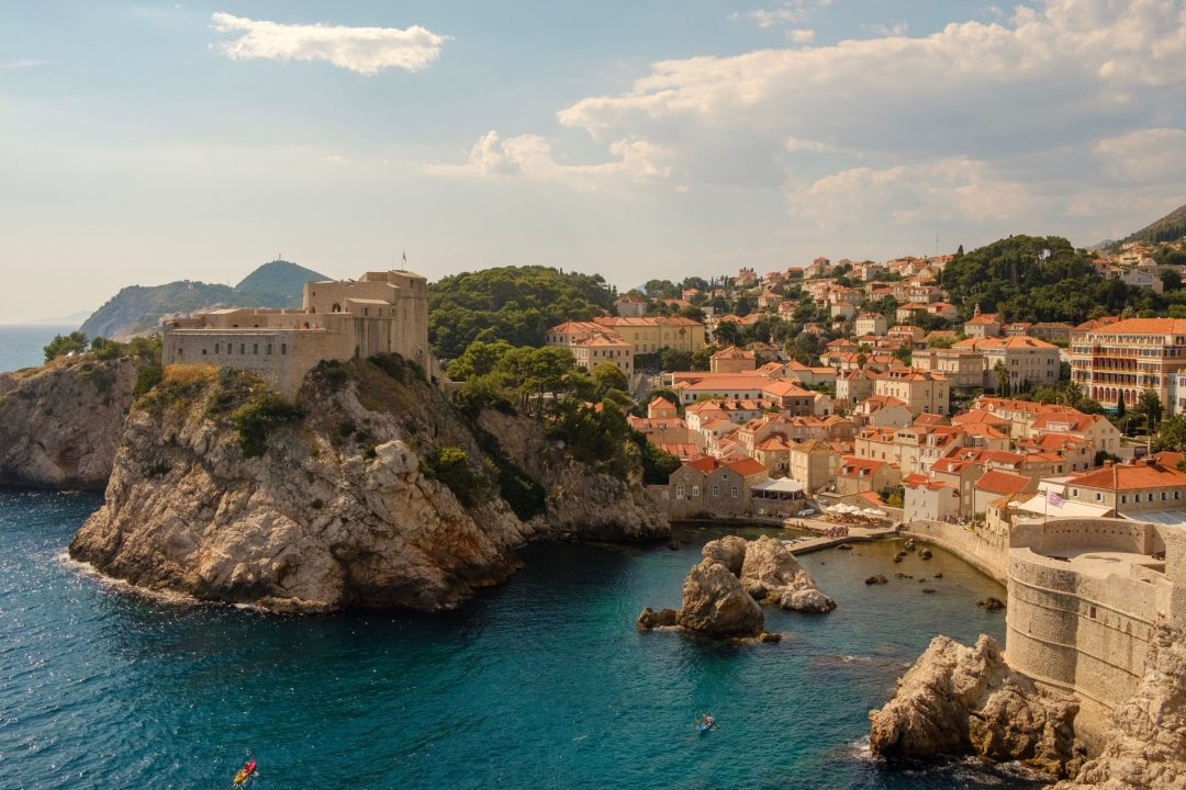 Landscapes and homes on the sea in Croatia