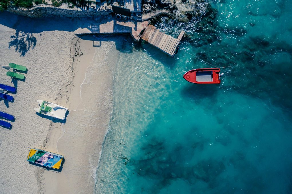 Birds-eye view of the Albanian riviera
