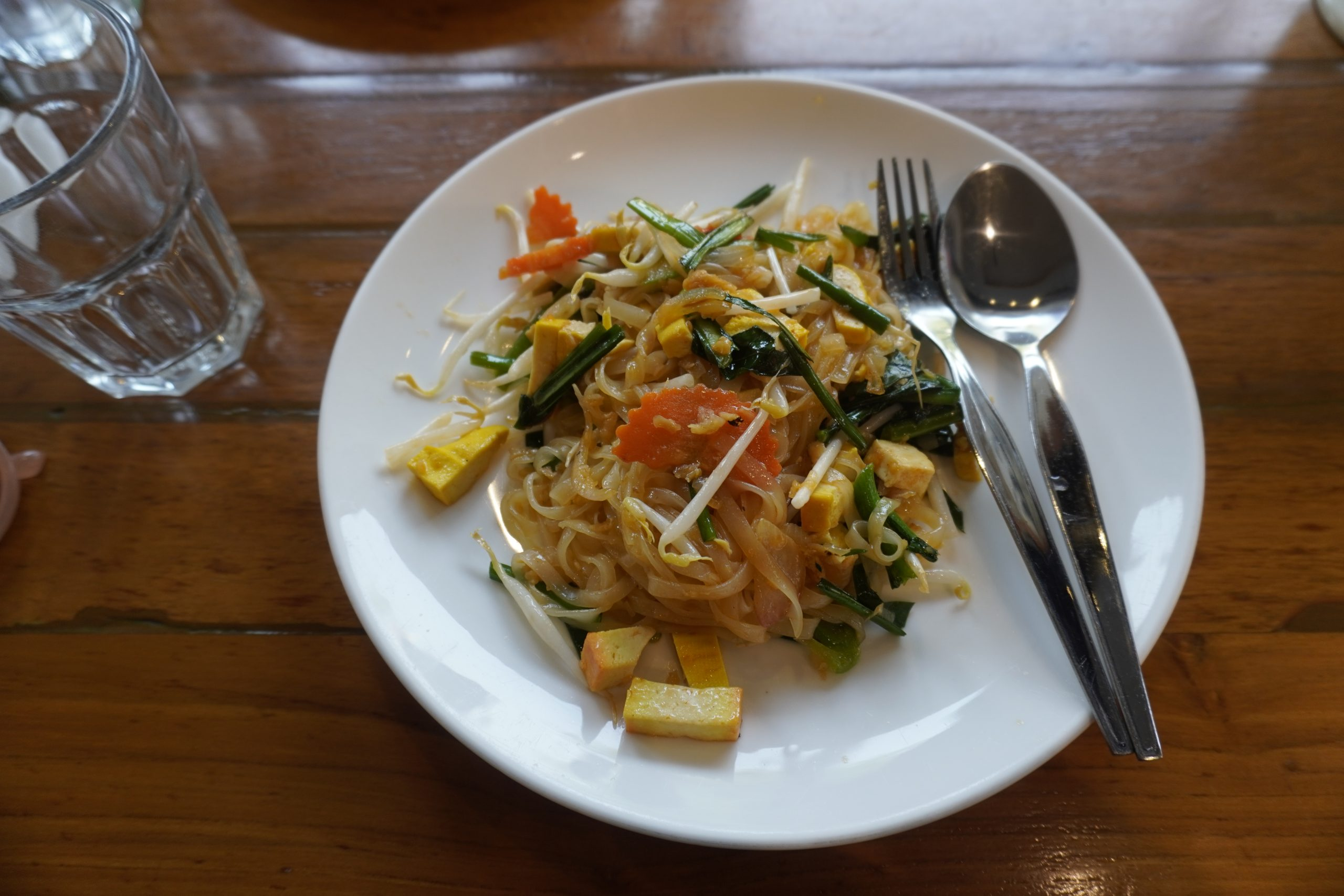 vegan pad thai in Bangkok