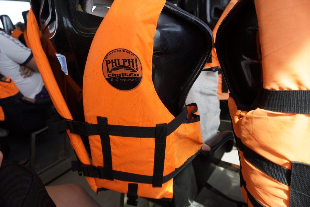 Phi Phi Cruiser ferry life vests