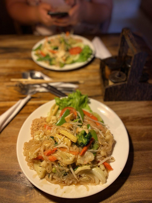 vegan pad thai from Ethos Vegetarian and Vegan restaurant, Bangkok, Thailand