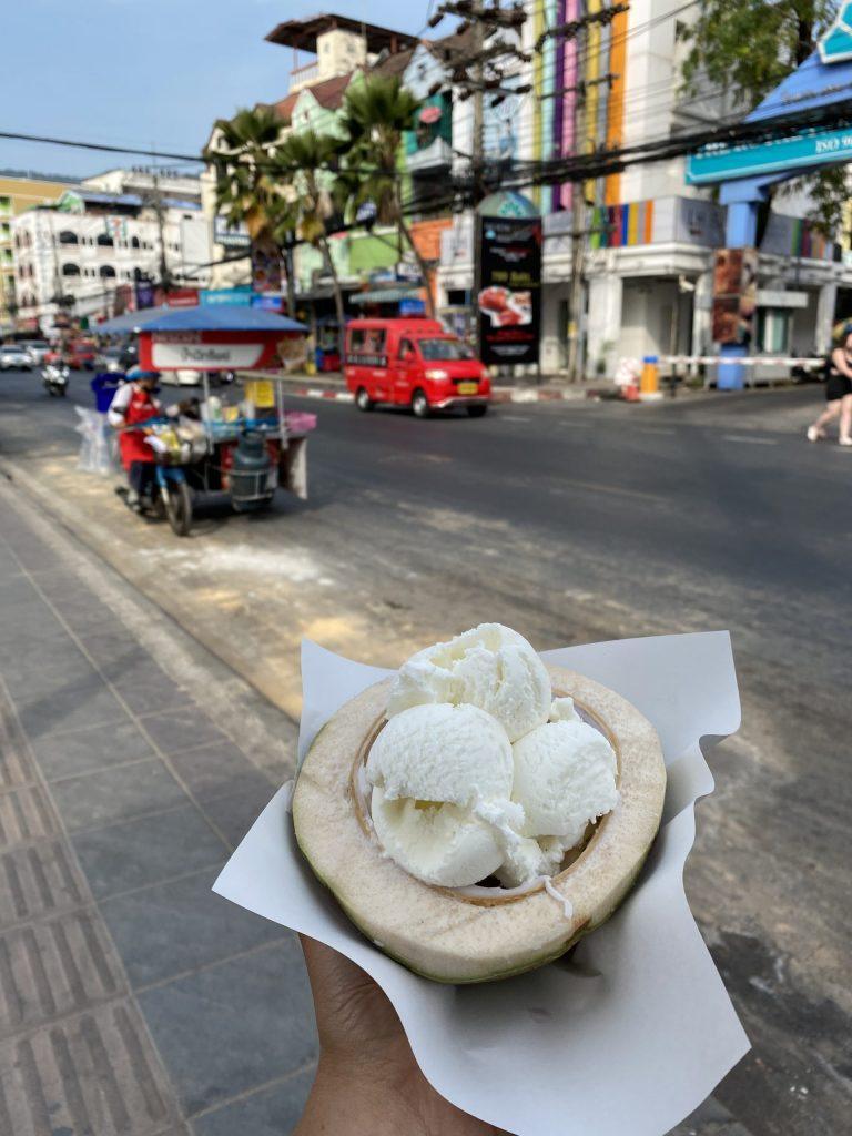 Coconut ice cream, Phuket, Thailand