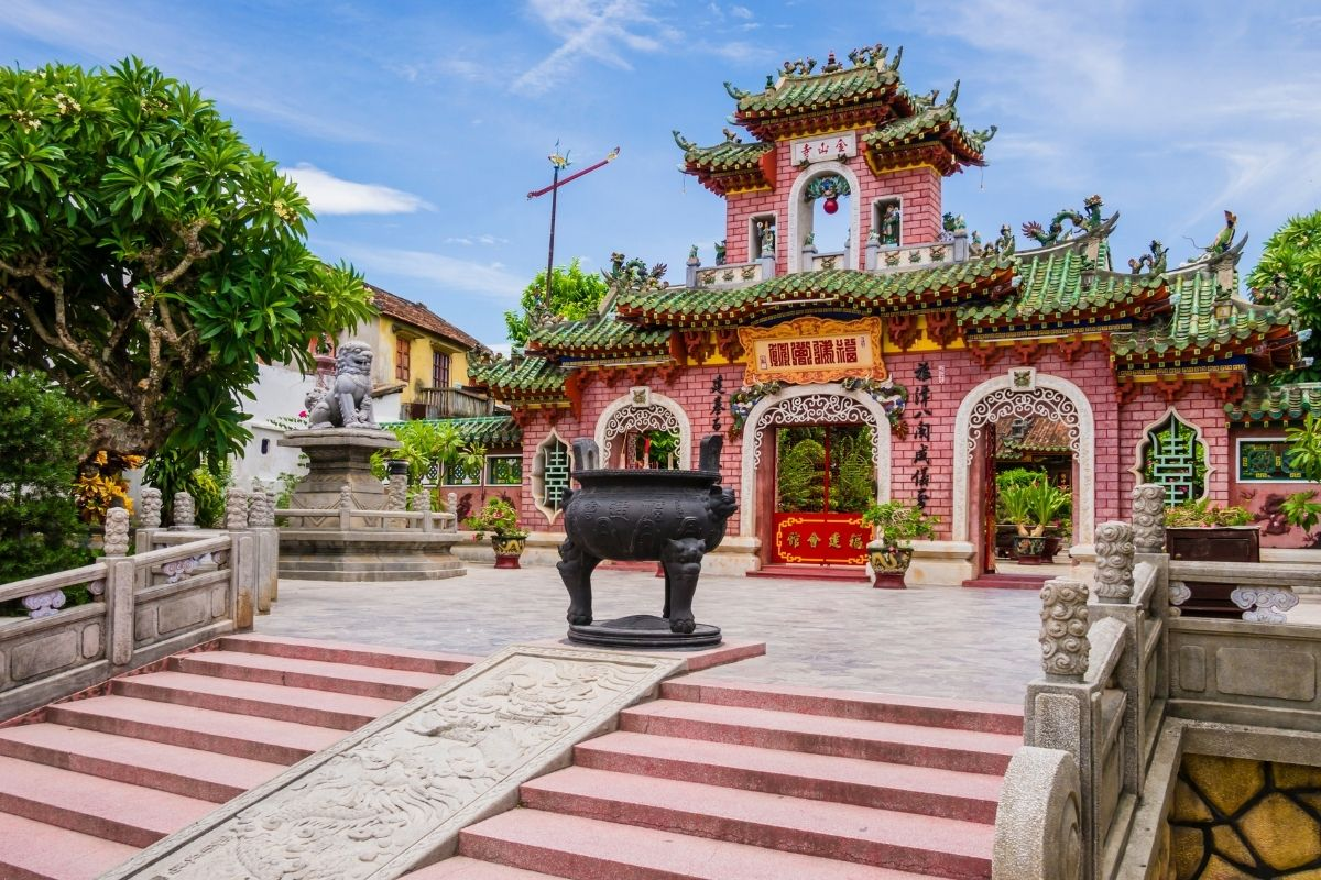 red temple entry in Hoi An, Vietnam