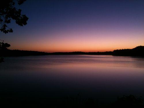 Running_lake sunrise