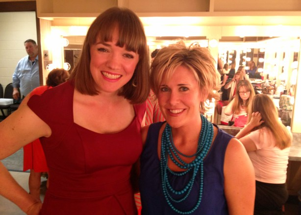 With fellow cast member, Eileen, backstage before the show.