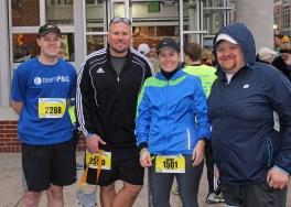 David, Kyle, Sarah, Justin (Kyle's cousin -- his 1st Half Marathon!)