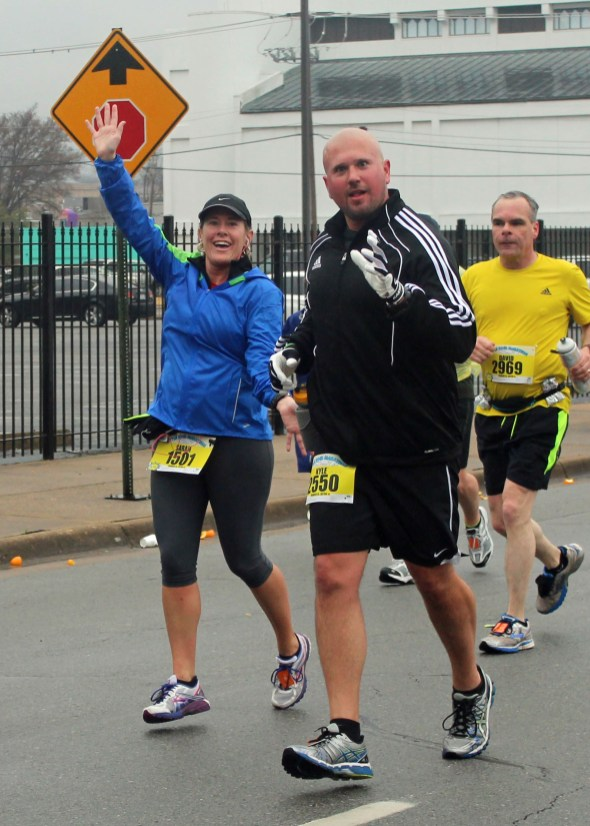 Marathons make us goofy.