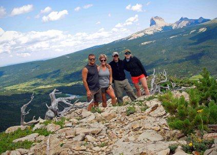 Jeff, Sarah, Brad, Natalie - Bear Mountain Overlook