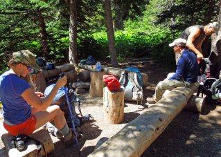 Food prep area at camp