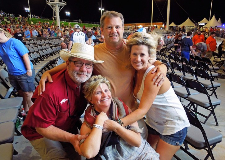 Jeff and Sarah, Scott and Tena | Willie Nelson, July 2014