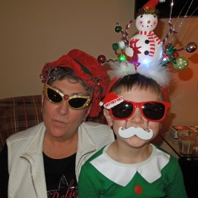 Mamaw and Colt - taking Christmas very seriously