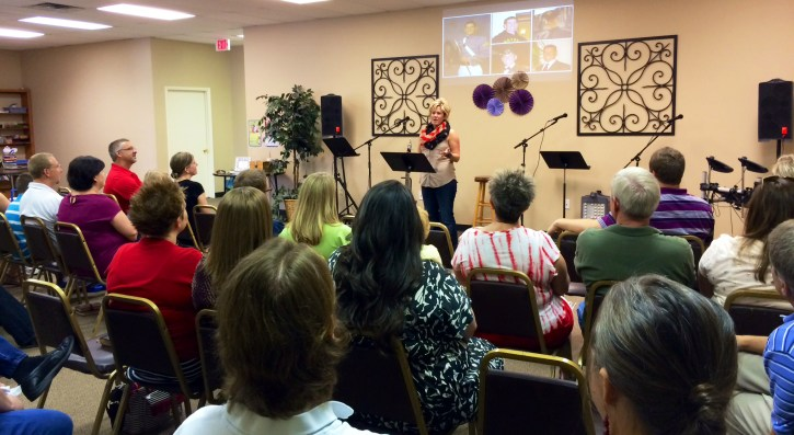 Sharing Tom with the Harbor Church of NWA, May 2014