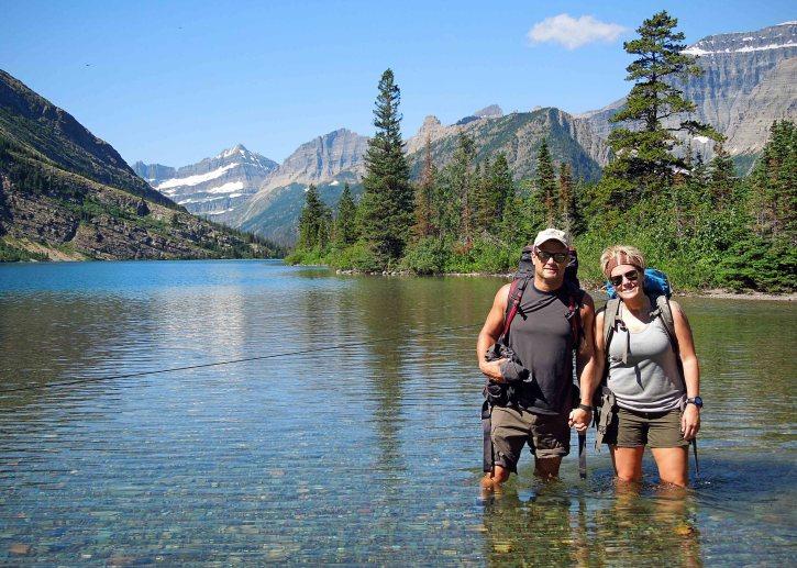 Jeff and Sarah   Glacier National Park, July 2014