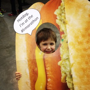 A weiner every time. Fun at the expo.