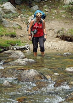 River crossing wearing KEENs {Photo: Pacific Crest Trail, 2016}
