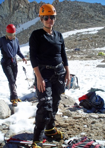 Mountaineering boots + crampons {Photo: Mt. Whitney, 2010}