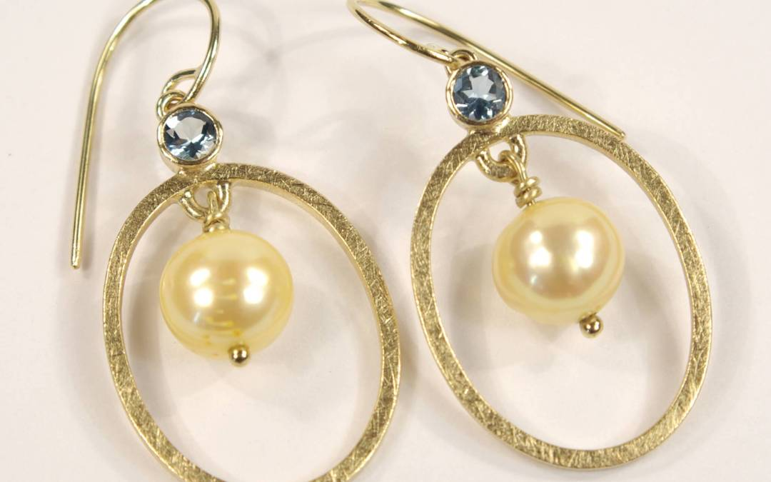 Heathers Yellow Gold, Aquamarine, Yellow Sapphire and Yellow Pearl Jewellery Suite, Part 9
