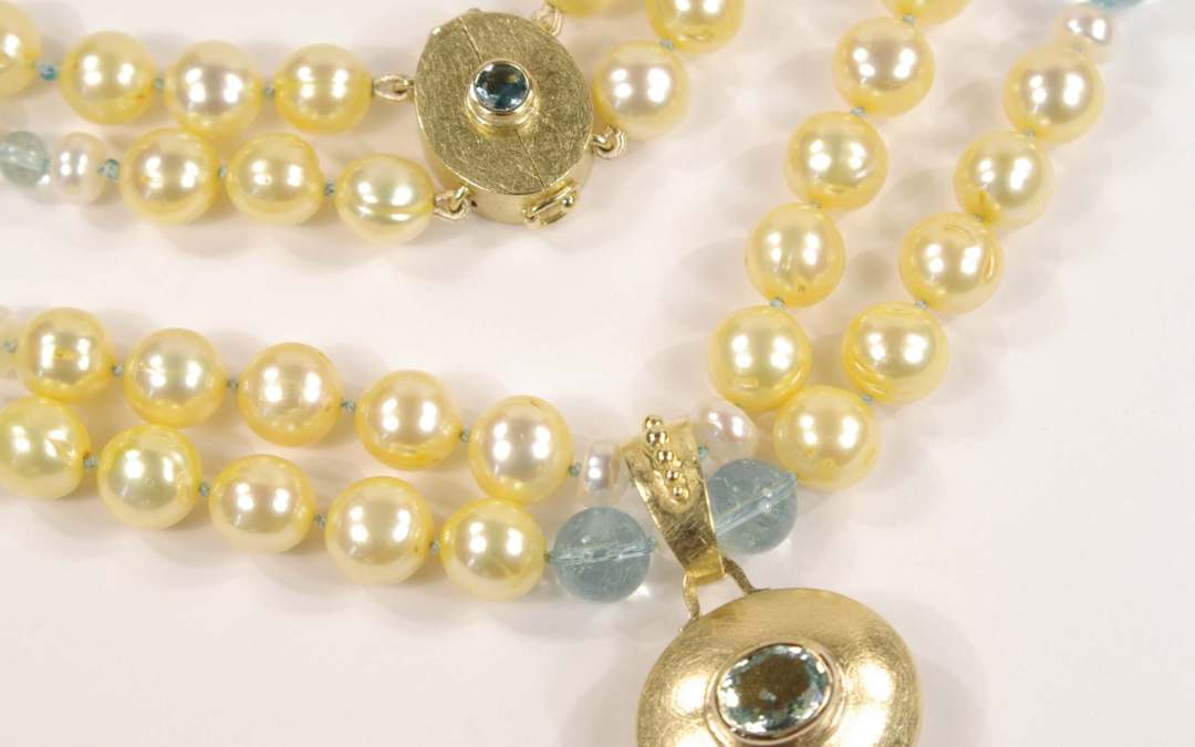 Heathers Yellow Gold, Aquamarine, Yellow Sapphire and Yellow Pearl Jewellery Suite, Part 7