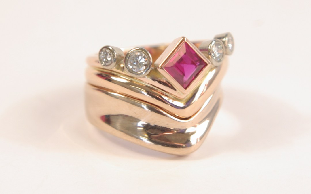 Irenes Ruby Wedding Anniversary Ring Re-Model