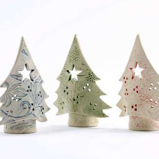 christmas tree light candle holder by Sarah McKenna