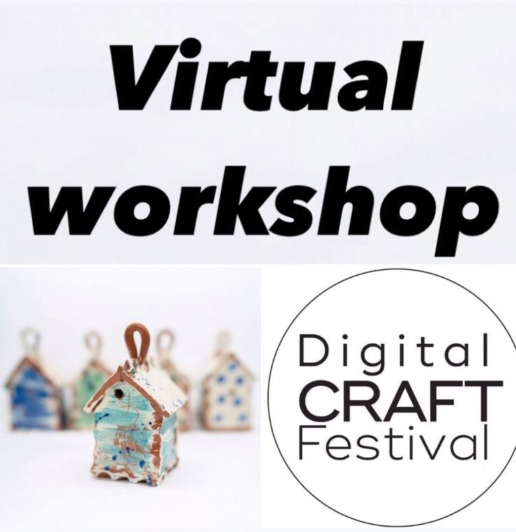 virtual workshop advert for digital craft festival