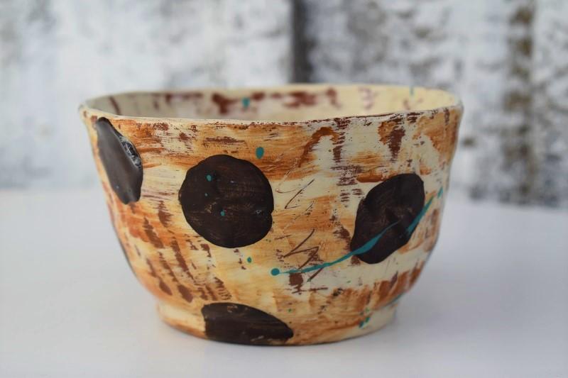 work in progress studio shot of slipware bt Sarah Monk Ceramics