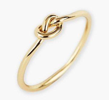 Argento Vivo Mini Knot Ring
