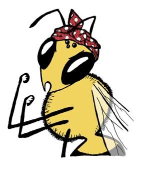 rosie-the-riveter-honey-bee-sm