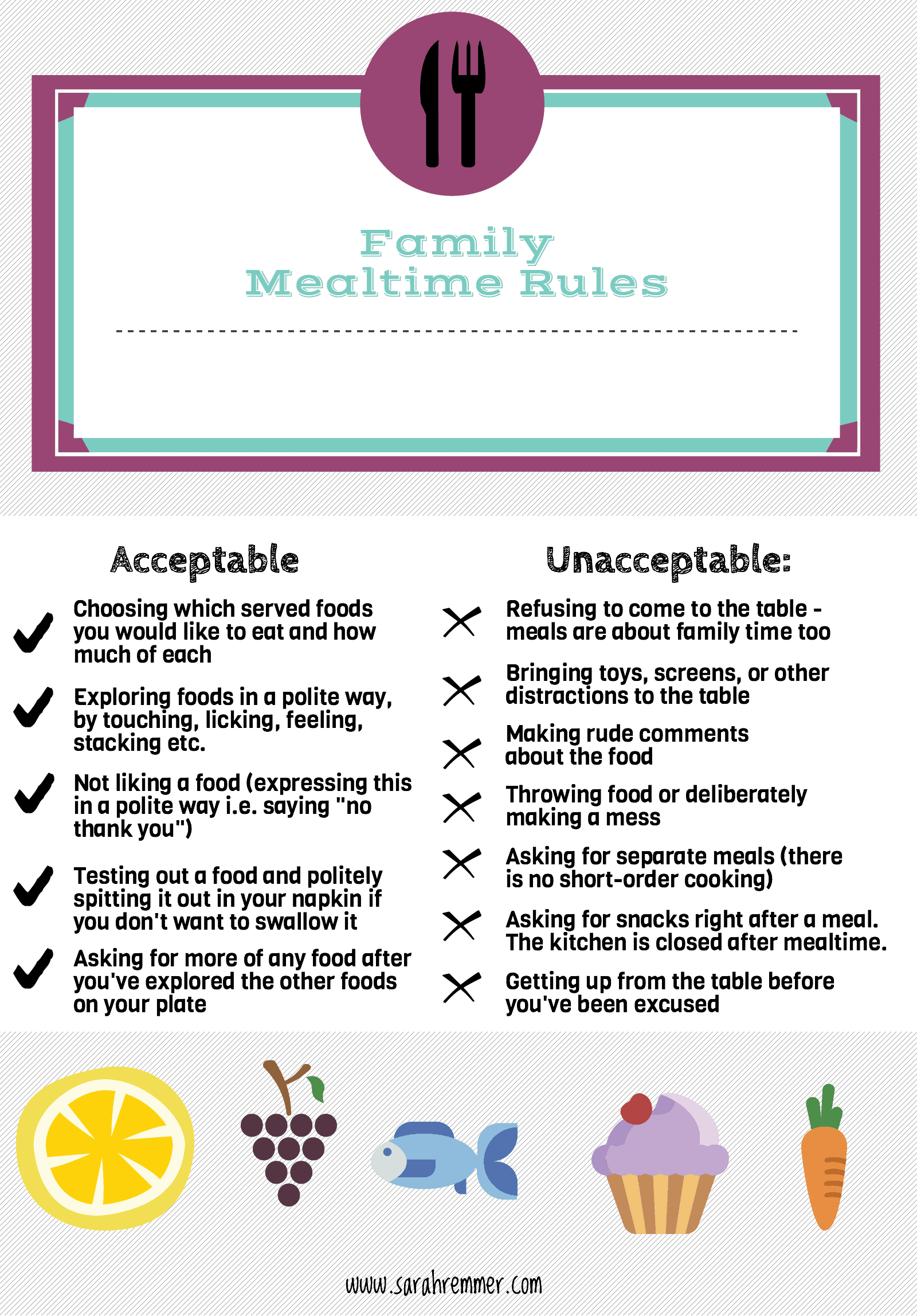 Setting Mealtime Boundaries For Your Child