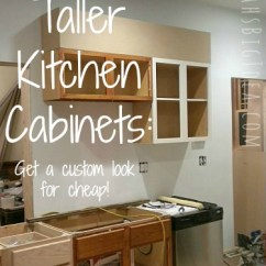 How To Make Kitchen Cabinets Dornbracht Faucet Making Taller Sarah S Big Idea Your Look