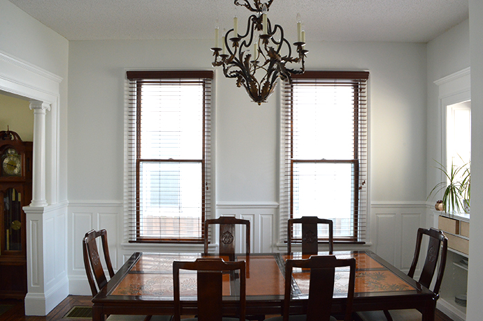 Gray And Blue Dining Room