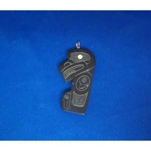 Argilllite Eagle Pendant by Alfred Davidson 3rd