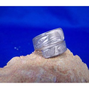 Silver Eagle Wrap Ring by Chris Russ