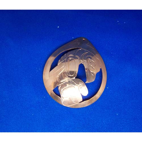 Copper Eagle Pendant by Chris Rluss