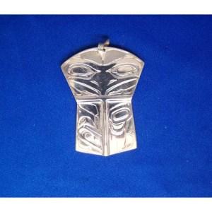 Silver Raven Shield Pendant by Chris Russ