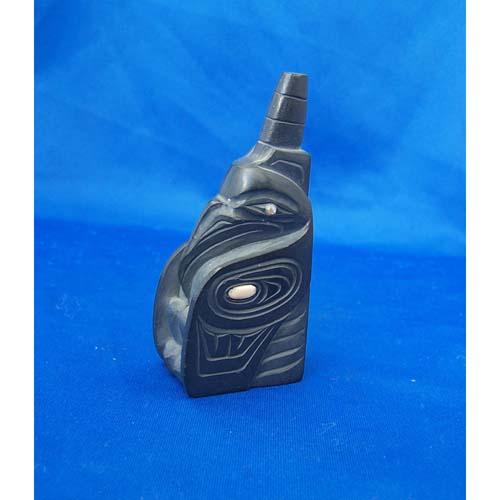 Argillite Raven Sculpture by Cooper Wilson