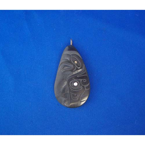 Argillite Eagle Pendant by Cooper Wilson
