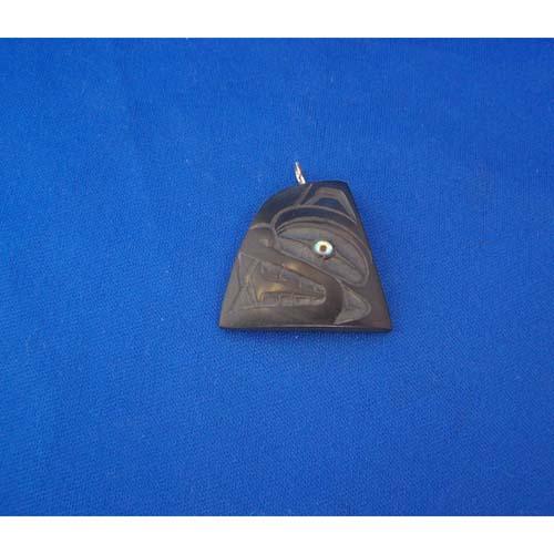 Argillite Bear Pendant by Cooper Wilson