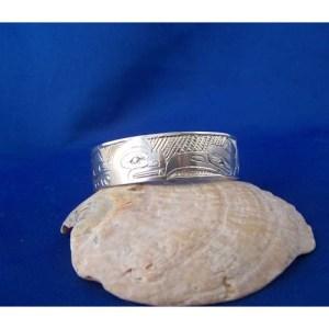 Silver Raven Killer Whale Baby Bracelet by Cooper Wilson