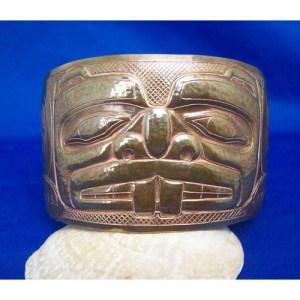 Copper 2 inch Reprosee Beaver Bracelet by Derk White