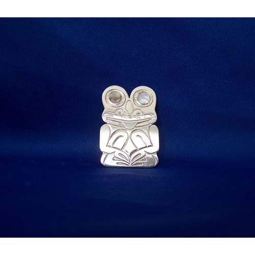 Silver Frog Pendant by Derek White