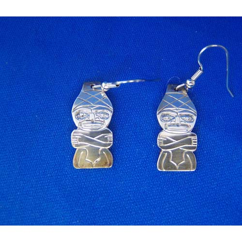 Silver Watchman Earrings by Derek White