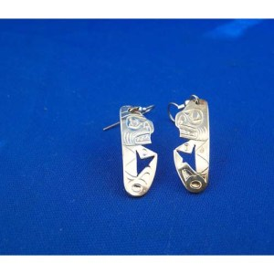 Silver Shark Earrings by Derek White