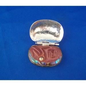 Silver Clamshell Locket by Derek White