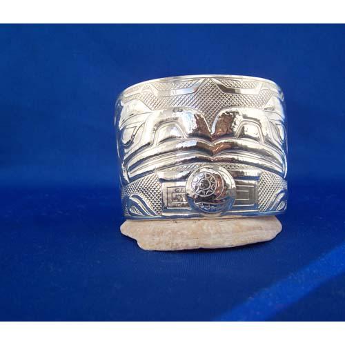 Silver Raven Moon Ben Box Bracelet by Derek White
