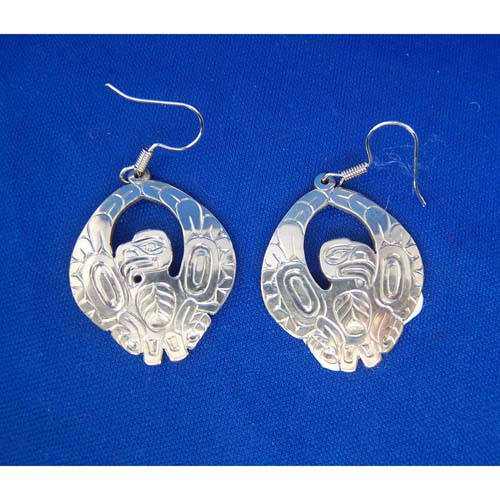 Silver Eagle Earrings by Derek White
