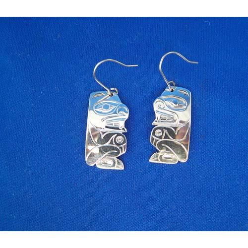 Silver Bear Earrings by Derek White